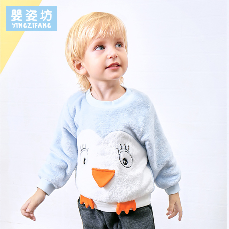 2017 Winter Kids Tees Shirt Warm Boys Girls Sweatshirt Cartoon Cute T-Shirt Costumes Long Sleeve Children Clothing Tops
