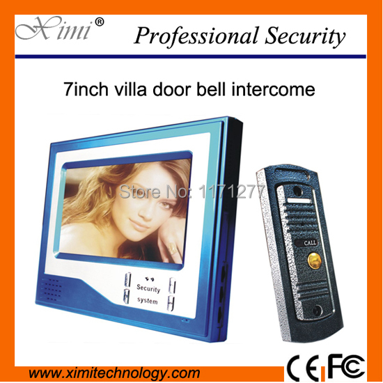 Good quality Home Security 7 inch LCD Video Door Phone Doorbell Intercom Video System with 750TVL IR camera