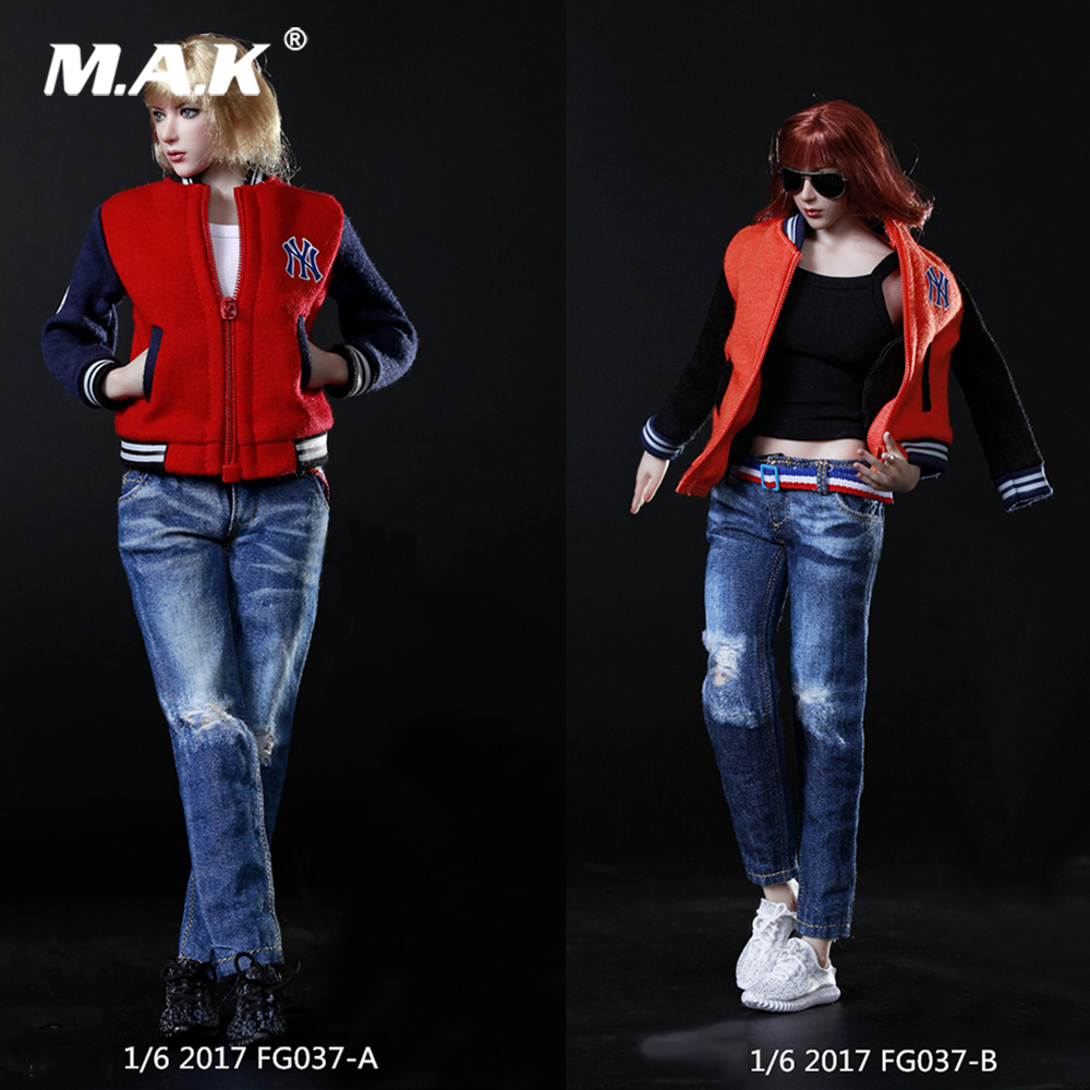 все цены на DIY 1:6 FG037 Female Figure Clothes Accessory Women Baseball Suit & Shoes 3 Colors for 12'' Phicen Tbleague Action Figure Body