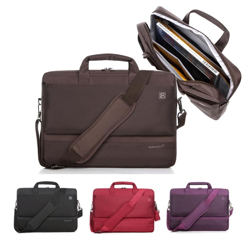 Prix pour Haute qualité nylon conception 15 15.4 15.6» sac d'ordinateur portable d'épaule sac messenger sling sac pour macbook hp homme femme universel 17 17.3