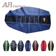 PU Leather Rubber Gripper Soft Seat Cover For Kawasaki KXF250 Honda CRF 250 450 CRF250R CRF450R Yamaha YZF250 KTM SX SXF EXC