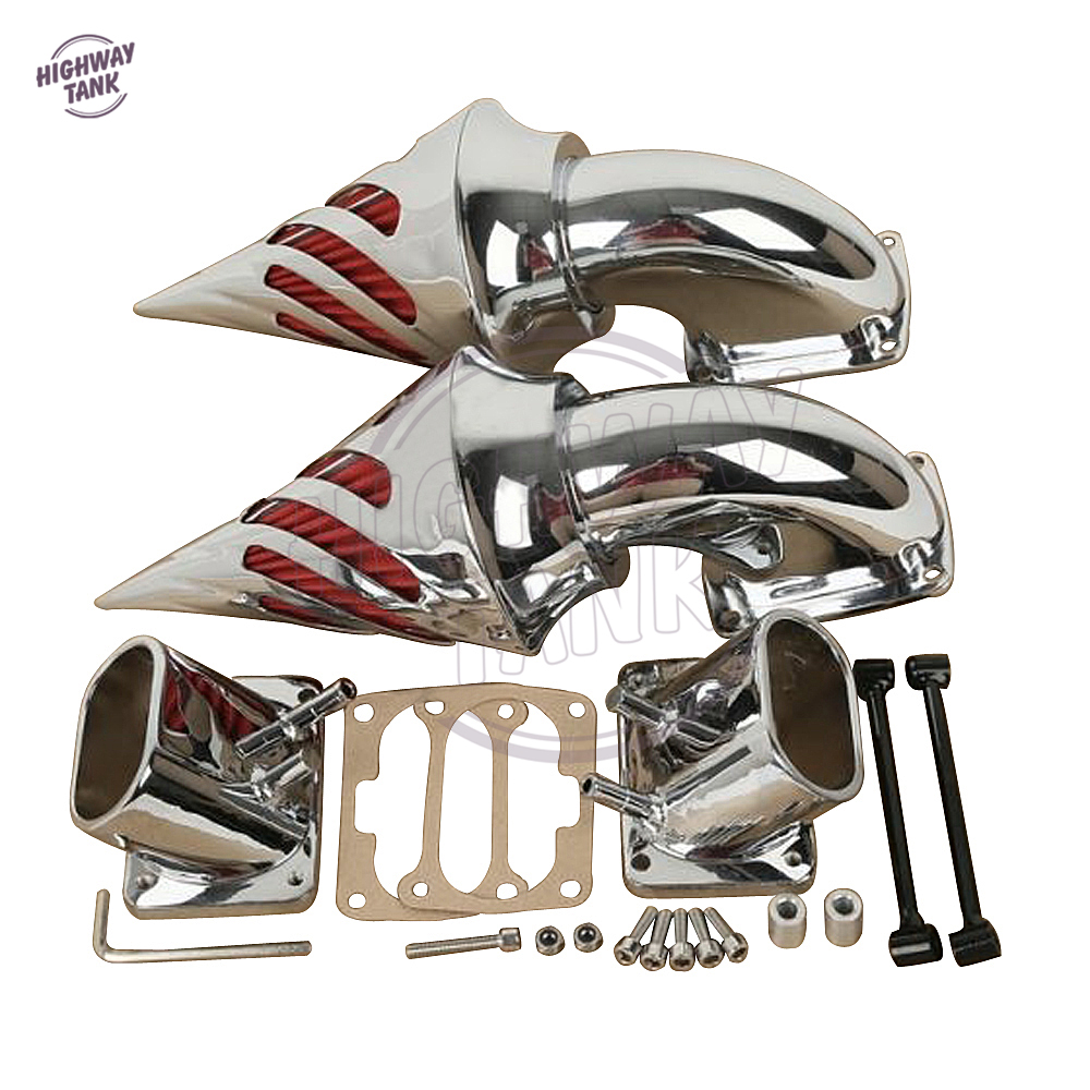 Chrome Aluminum Motorcycle Spike Air Cleaner Kit Intake Filter case for Suzuki Boulevard M109 M 109 R chrome spike air cleaner kit intake filter for 1998