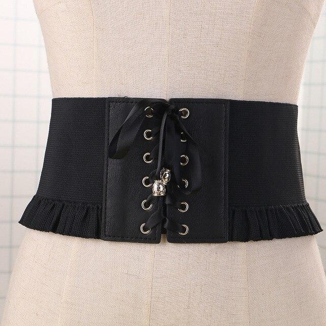 Mode féminine sauvage Élastique ceinture de femmes Harnais Attaché Dentelle Taille  ceinture Ceintures Vêtements Décoration accessoires 52dcaeb8855