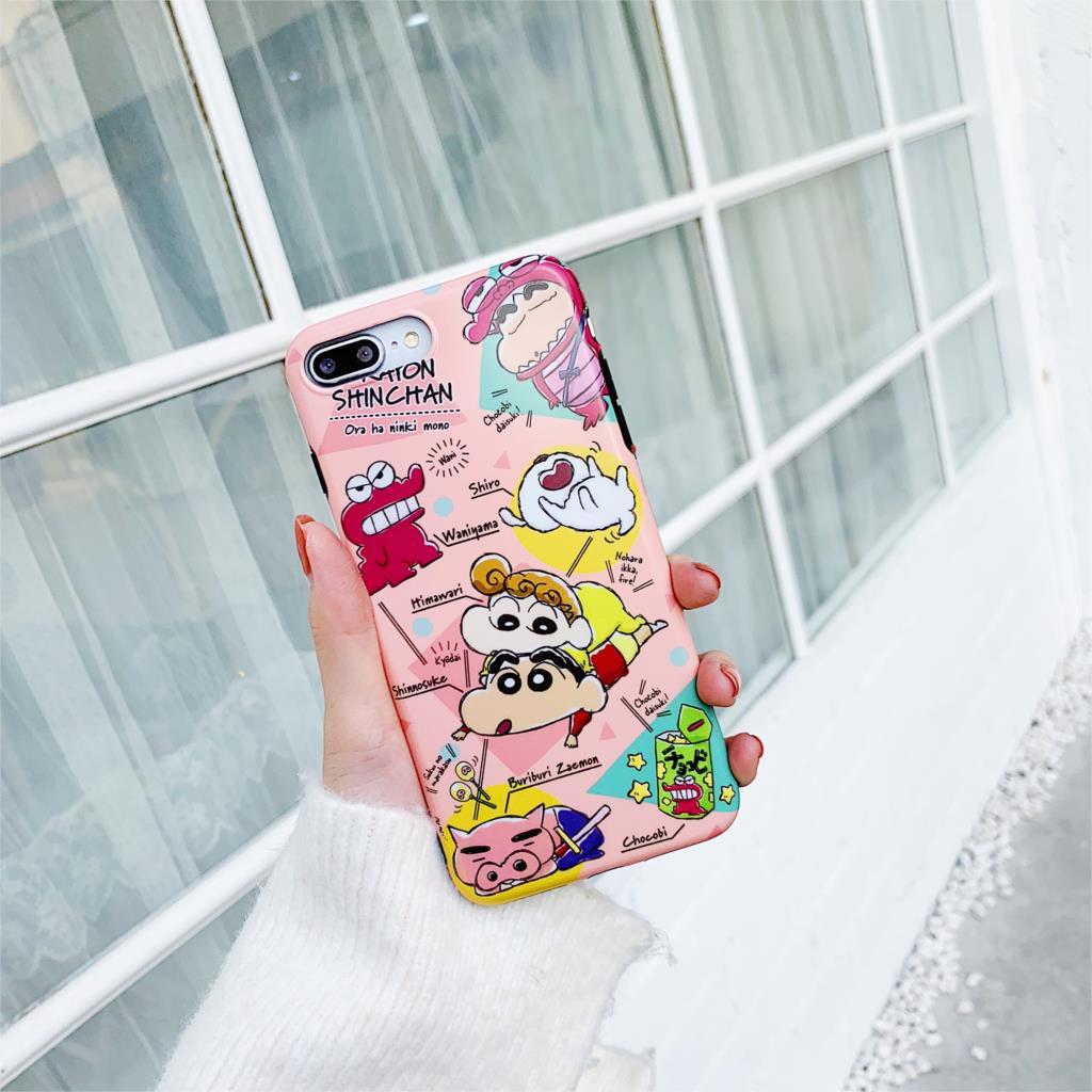 Crayon Shinchan Cartoon Funda For Iphone X Case Matte IMD Phone Case For Iphone X XR XS Max 6 6S 7 8 Plus Cover Soft TPU Capa