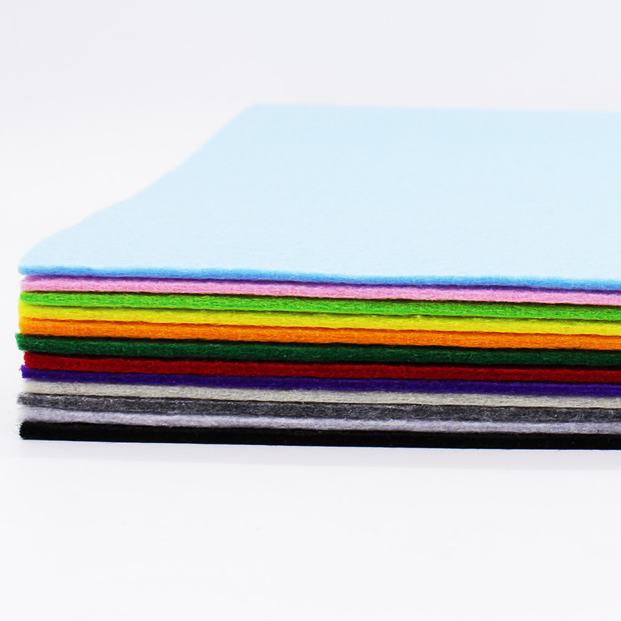 CMCYILING 12Pcs/Lot 20*30cm. 3mm Thick Felt Fabric Polyester Cloth Nonwoven Fabric For DIY Sewing Felt Craft Scrapbooking