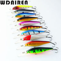 1PCS Super Quality 5 Colors 11cm 10 5g Hard Bait Minnow Fishing Lures Bass Fresh Salt
