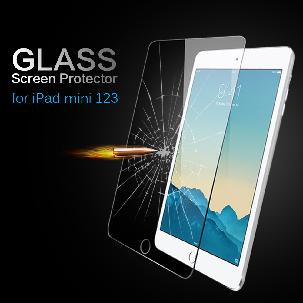 Высокое качество закаленное Стекло Экран протектор для Apple iPad Mini 1 2 3 защитный кожух Плёнки Mini1 Mini2 Mini3
