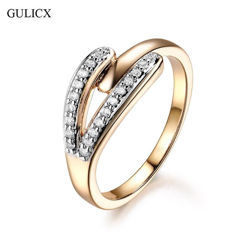 Gulicx trendy mousseux nail anneaux charme bijoux micro cz pave foyer forme punk cristal autrichien anneau pour les femmes de noël