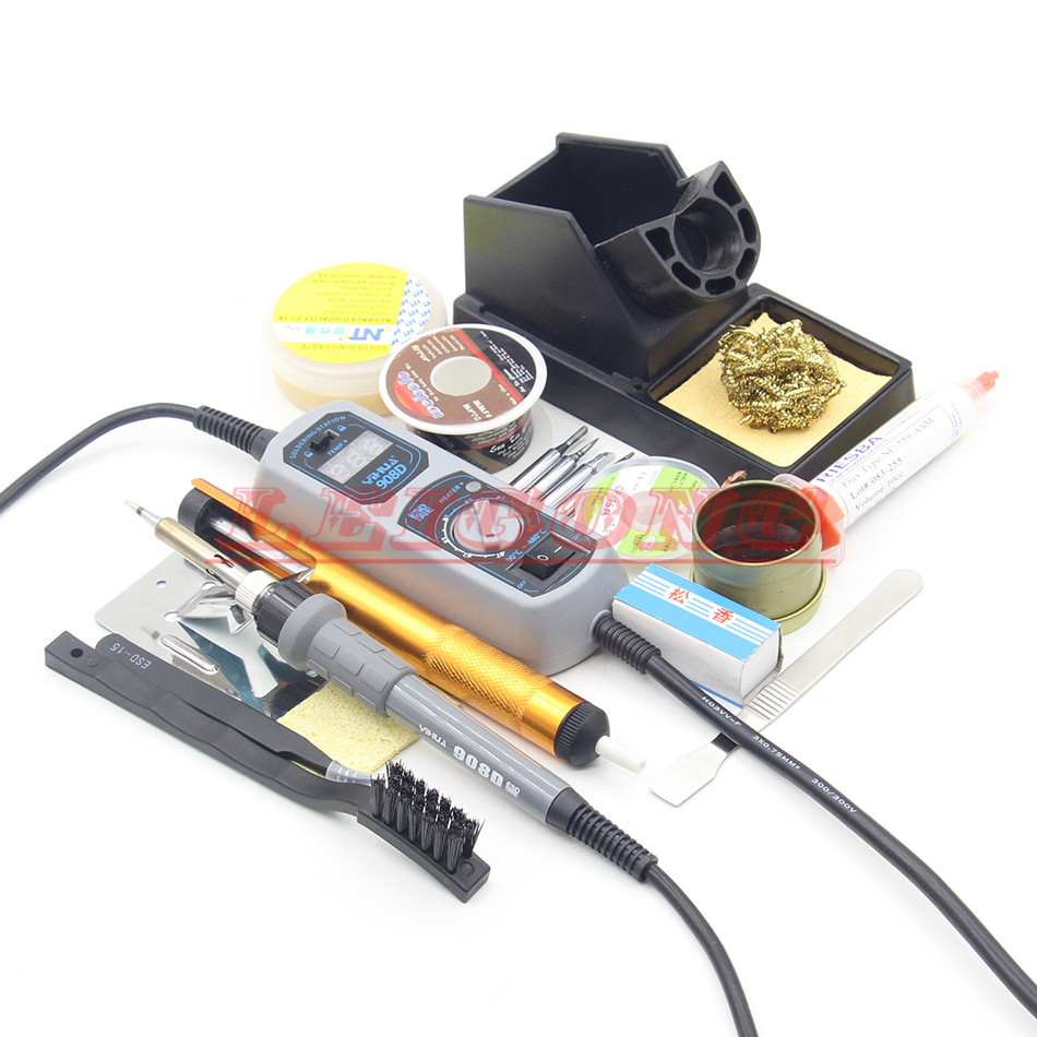 YIHUA 908D 220V 60W Heated iron LED Digital Display Soldering Station Iron High temperature resistant silicone