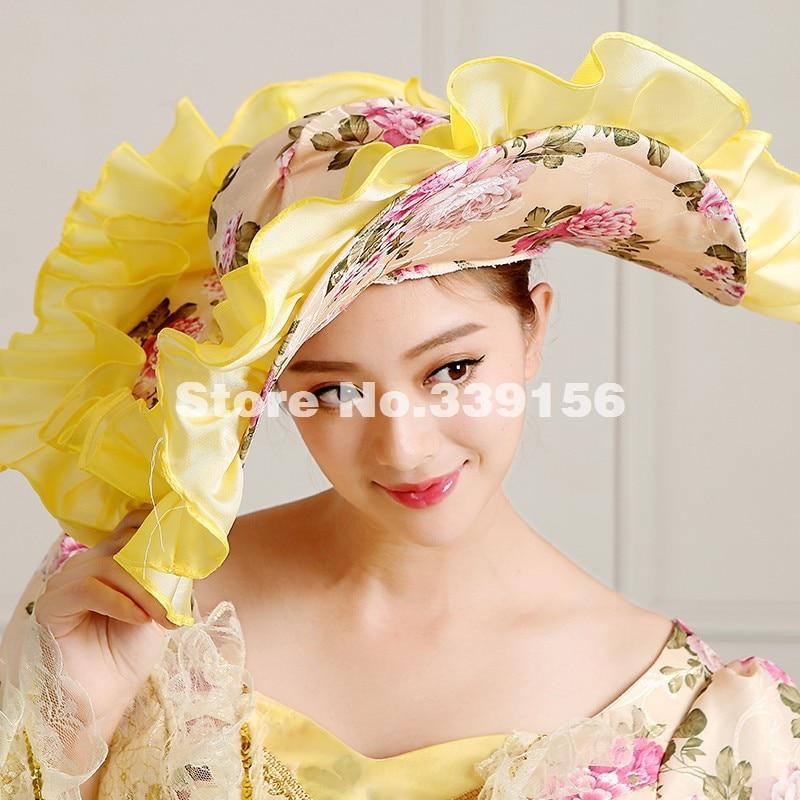 Les Partie Renaissance Picture Femmes Antoinette Floral Pour Jaune Siècle Élégant Longue Marie Princesse Rococo As 18e Robe Costume T6HYRwxqn