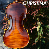 Professional Violin 4/4 Master Christina Solo S500 with imported Europe Maple wood material, violino 3/4 fiddle case,rosin,bow