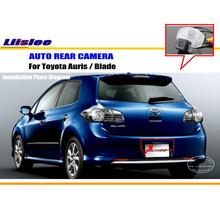 Car Rear View Camera / Back Up Reverse Parking Camera For Toyota Auris 1ST 2006~2012 License Plate Lamp / HD CCD Night Vision