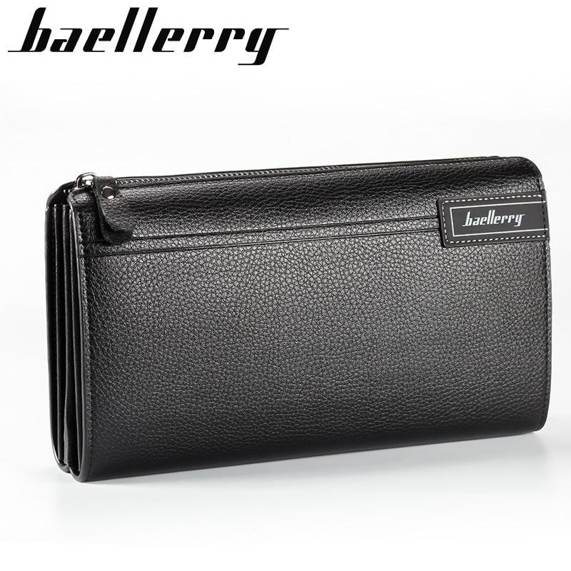 Men wallets with coin pocket long zipper coin purse for men clutch business Male Wallet  zipper Vintage Large Wallet Purse