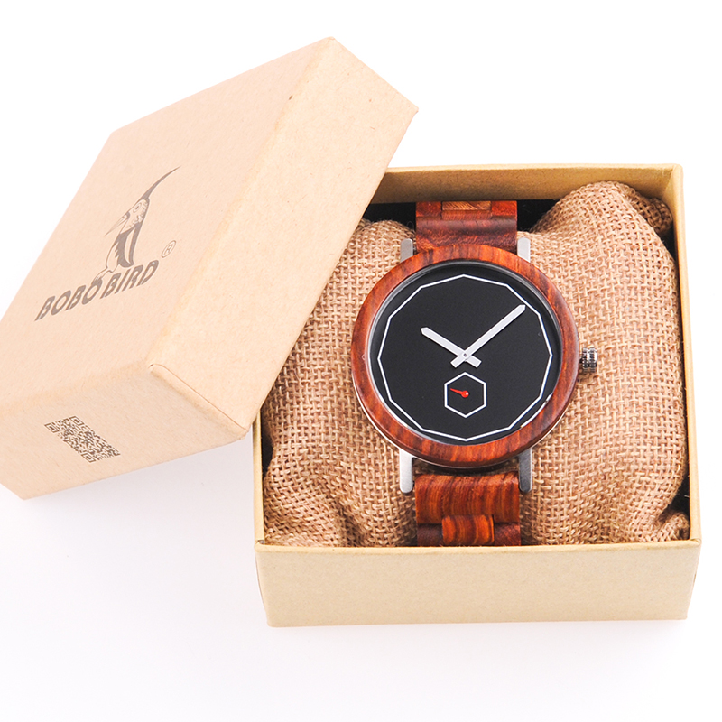 BOBO BIRD Luxury Red Wood Band Wrist Watch Men Japan Movement 2035 Quartz Wooden Watches Gifts relogio masculino C-M29 сковорода tefal just black 04041122