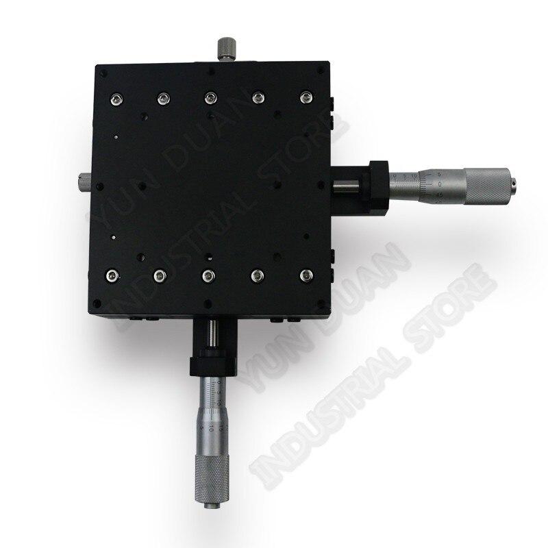 125*125 мм XY Axis 5 обрезки руководство станции смещение платформы Крест ролика руководство способ линейной стадии раздвижные таблица LY125-C