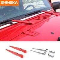 Shineka frente brisas limpadores capa cauda janela limpador capa guarnição para jeep wrangler jk 2007-2016 estilo do carro