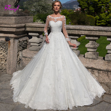fsuzwel Fmogl A-Line Wedding Dress 2019 Long Sleeve