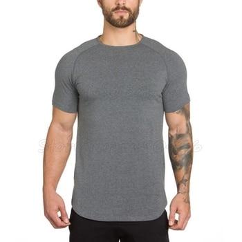 Brand gyms clothing fitness t shirt men ...