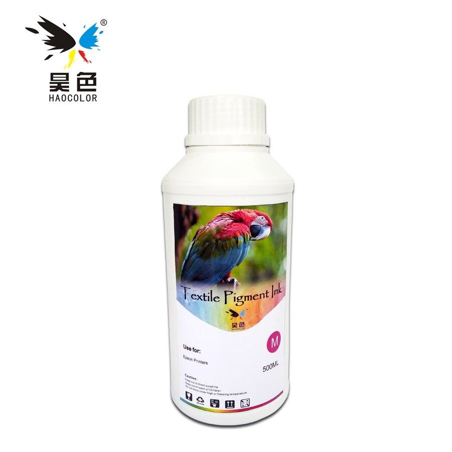 все цены на 500ML Magente Color Digital Textile pigment Ink garment ink For Epson R1800 R1900 R2000 R3000 printers онлайн