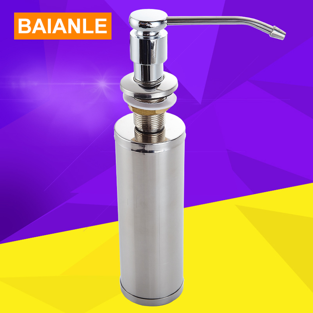 Free shipping Stainless Steel Liquid Soap Dispenser Kitchen Soap ...