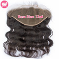 7A Brazilian Virgin Hair Lace Frontal Closure 13x6 Body Wave Full Lace Frontals With Baby Hair Ear To Ear Brazilian Hair Frontal