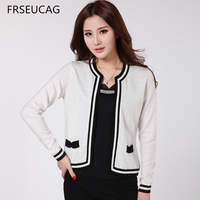 FRSEUCAG 2017 New Round Neck Knitted Cashmere Cardigan Fashion Popular Small Jacket Genuine Free Shipping