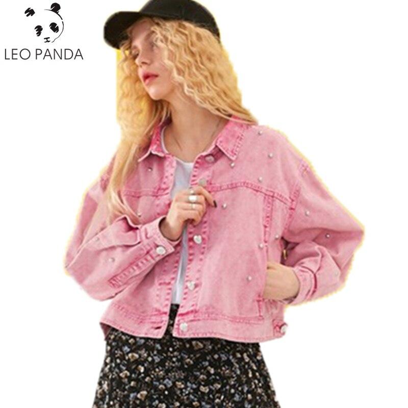 Printemps Femme Nouveau Cowboy Denim Plus C Manteaux Capuche Vêtements Taille Automne Survêtement Mm La 267 Femmes Étudiant Occasionnel Lâche Veste Pink Graisse Des wrqxF6wft