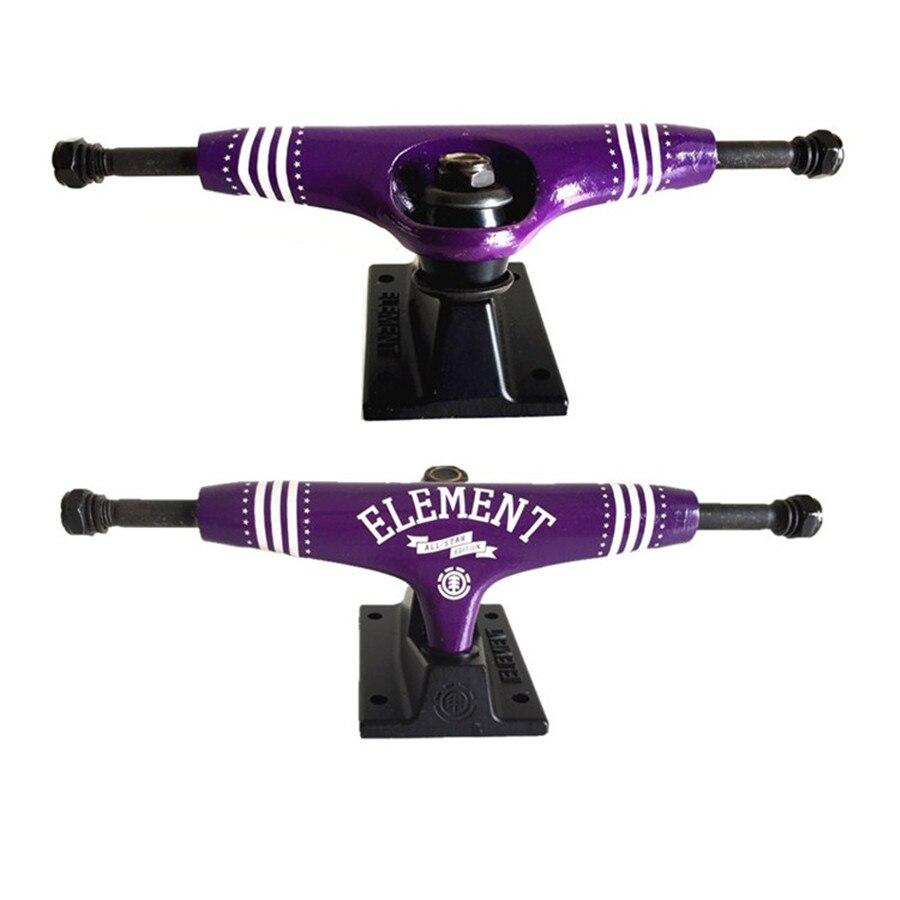 2 piezas Element Skateboard Trucks 5,25/5,5/7 pulgadas para tabla de Skate Longboard cubierta Durable de aluminio soporte monopatín partes de la venta caliente - 4