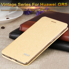 huawei gr5 flip cover brand original gold huawei gr5 back cover leather inner metal silicon fundas free shipping