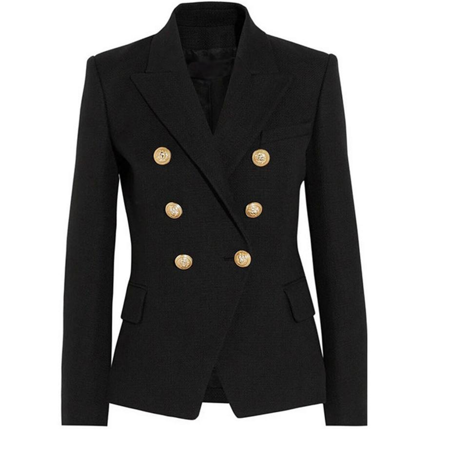 womens new model Draping gold buckle slim suit jacket same star wear 2018 spring new double-breasted causal suit jacket L492