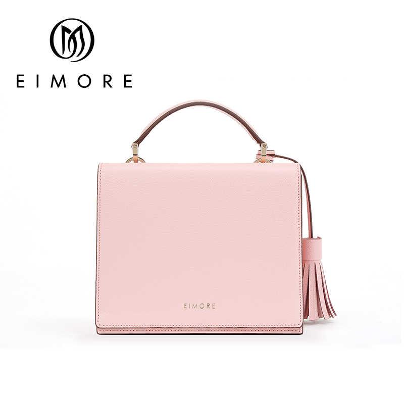 EIMORE 2019 новый тренд женские сумки простой клапан модная сумка на плечо женские сумки с кисточками женская сумка-мессенджер розовая