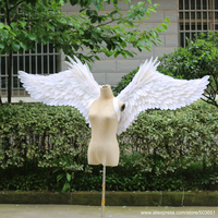 Halloween Boy Girl Child White Angel Wings Halloween Angel Wing Unisex Multi Purpose Creative Costume Wings Party Props