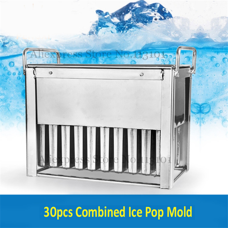 Stainless Steel Ice Pop Popsicle Mold Frozen Ice-Lolly Mould with Sticks Holder 30pcs/Batch