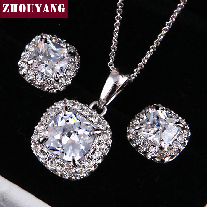 ZHOUYANG Top Quality ZYS009 Silver Color Elegant We