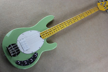 Green Music Man Ernie Ball Sting Ray 4 String Electric Bass Guitar with active pickups 9V battery Vitage Maple Fingerboard