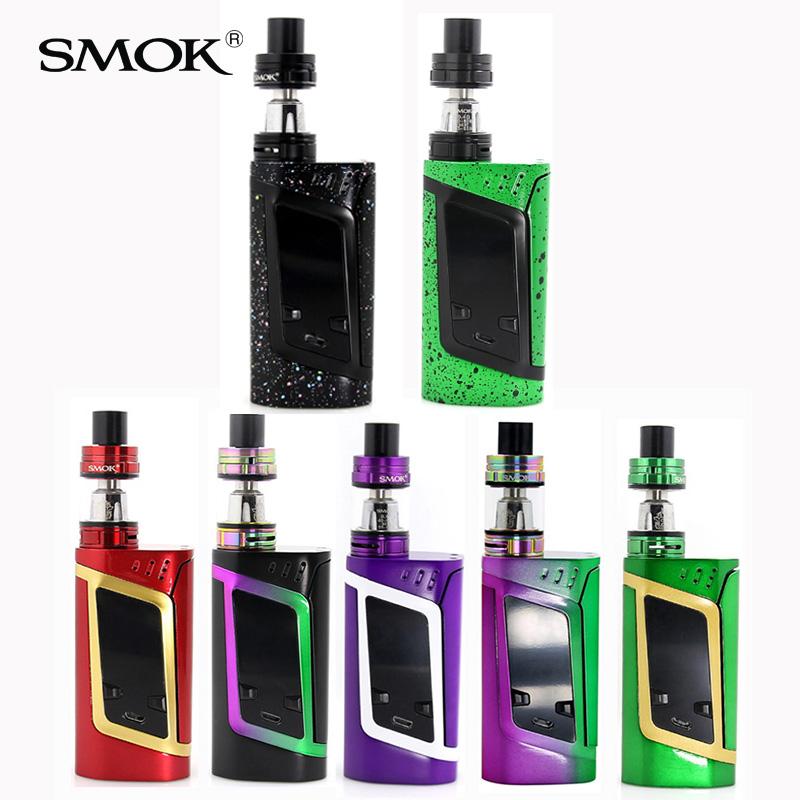 Prix pour Nouvelles couleurs! 100% D'origine Smok Alien Kit TFV8 Bébé Réservoir Atomiseur 220 W Boîte Mod SMOK Alien toute couleur Arc-En-couleur