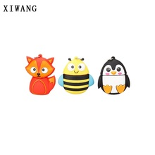 цена на XIWANG cartoon cute penguin owl fox pen USB flash drive pendrive 4GB 8GB 16GB 32GB 64GB memory stick animal U disk free shipping
