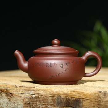 yixing undressed ore quality goods by sea all hand are recommended draw card cover the teapot wholesale purple clay