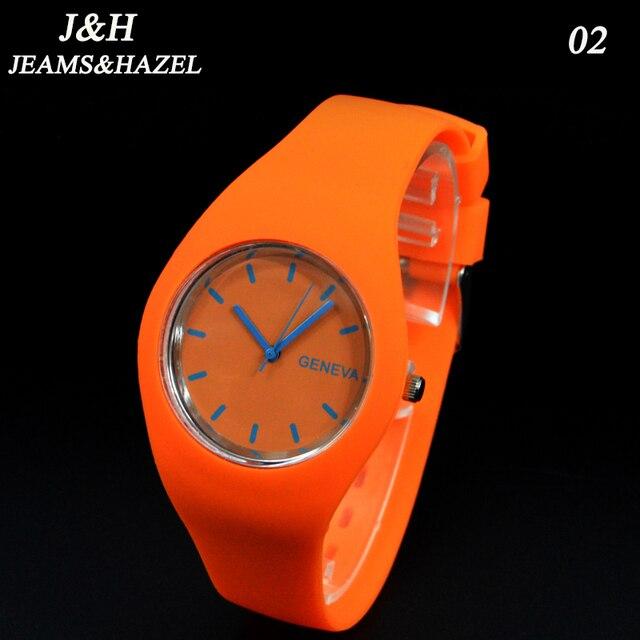 geneva Watches Women 2016 Clock Female Silver Women Silicone Quartz Wristwatches