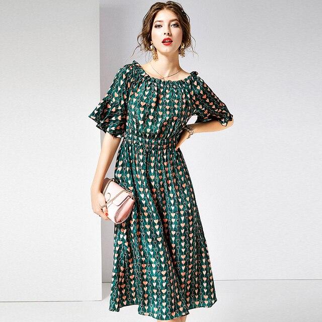 100% Silk Women Slash Neck Half Ruffles Sleeveless Elastic Waist A-line Top Grade Fabric Casual Style Summer New Fashion 2019