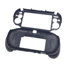 цена на Matte Hand Grip Handle Joypad Stand Case with L2 R2 Trigger Button For PSV1000 PSV 1000 PS VITA 1000 Game Console Black