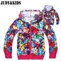Подростки плюс размер Пуловеры марка пиджаки дети зимняя новогодняя молнии с капюшоном дети Пикачу покемон Squirtle куртки для девочек