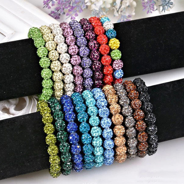 2017 New Women Shambala Jewelry 15 Colors Shambala Bracelets For Women Crystal B