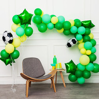 Ins net blue green balloon chain irregular shape balloon chain Football party birthday party opening scene decoration