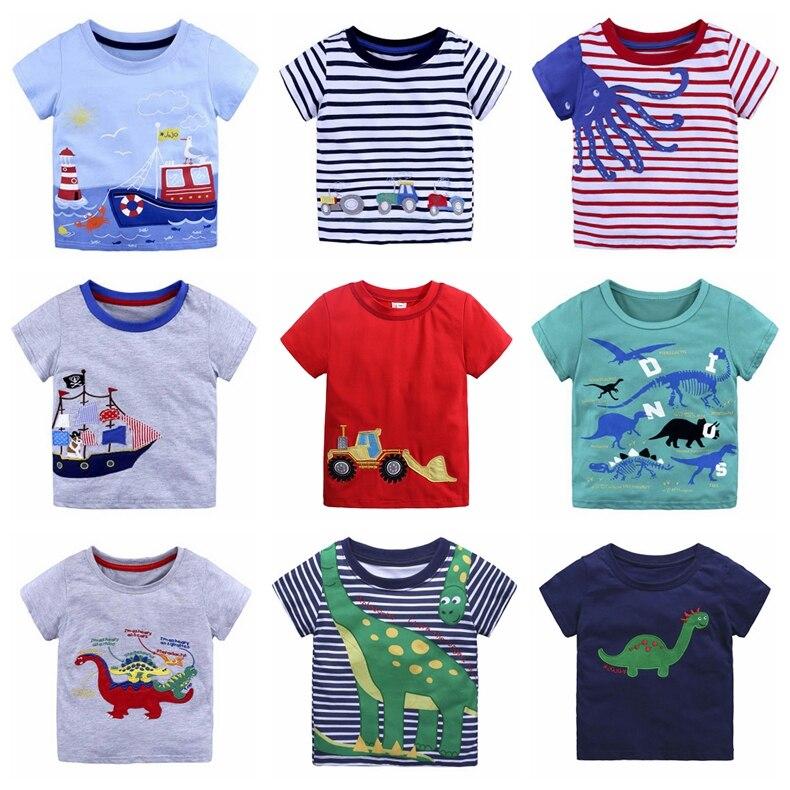 2-6 Years Red Friday Baby Girls Short Sleeve Ruffle Tee Cotton Kids T Shirts