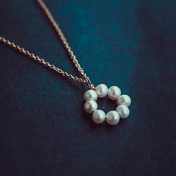 Collier de perles or rempli Chocker Vintage Bijoux minimalisme Collier à breloques Bijoux Femme Boho Collier pour les femmes Collier