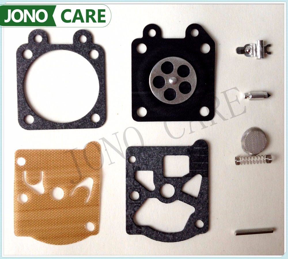 Chainsaw 5200 5800 Carburetor Diaphragm Gasket Repair Kit w/Screw Pin for Chainsaw 38/45/52/58 Carb Rebuild Chainsaw Parts 5 set carburetor carb repair gasket kit for husqvarna 50 51 55 chainsaw parts
