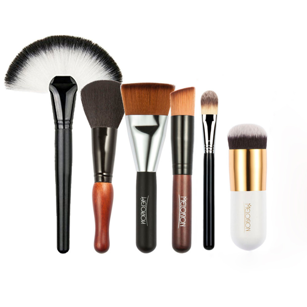 6Pcs Professional Makeup Brushes Set Face Blush Foundation Powder Eyeshadow Cosmetic Make Up Brush Beauty Pincel Maquiagem Tool maquiagem professional foundation makeup brush wooden soft hair round powder blush make up brushes cosmetic tool high quality