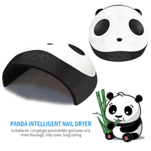 Cute Panda Shaper UV Lamp 36W LED Nail Dryer Manicure Lamps Double Light Auto Motion Drier For Curing Gel Polish Nail Art Tools new curing gel polish nail dryer 48w sun uv led lamps nail polish dryer light auto motion drier curing gel timer manicure hb88