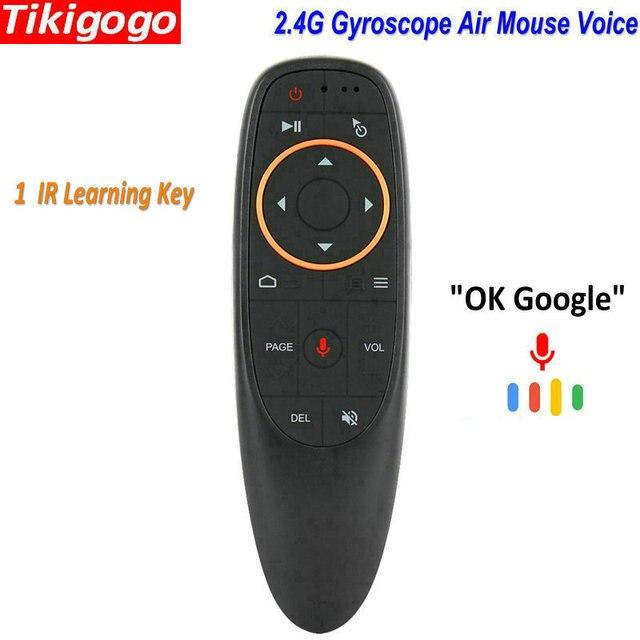 G10 żyroskop Air Mouse mikrofon asystent Google wyszukiwanie głosowe IR pilot zdalnego sterowania dla systemu Android Smart TV Box